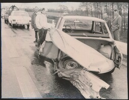 LANDEGEM   -- FOTO 1973   +-  8 X 8 CM  ---  DODELIJK ONGEVAL TE LANDEGEM - Nevele