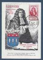 France Carte Maximum - Journée Du Timbre - Louvois - 1947 - Maximum Cards