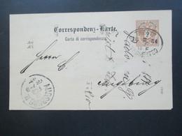Österreich 1894 GA P45 A Ital. Ovaler Stempel Trieste Tergesteo. Ankündigung Handelsvertreter Giorgio Padovan - Briefe U. Dokumente