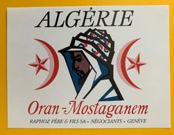 10735 - Oran - Mostaganem Algérie - Etiquettes
