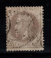 Lauré - YV 27Ab Gris Lilas Oblitere Pas Aminci TTB Cote 100 Euros - 1863-1870 Napoleon III With Laurels