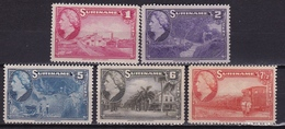 Suriname 1945 Koningin Wilhelmina 5 Waarden Uit De Serie NVPH 220-222-226/228 Postfris - Surinam ... - 1975