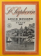 10737 - Saint-Saphorin 1949 Louis Bovard Cully Suisse Barque Du Léman - Labels