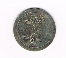 //  PENNING  GOLFSPELER - Souvenir-Medaille (elongated Coins)