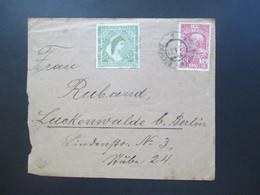 Österreich 1911 Nr. 166 Bregenz - Luckenwalde Bei Berlin Vignette Viribus Vritis Kaiserin Elisabeth - 1850-1918 Imperium