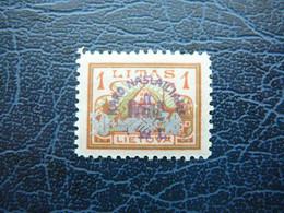 Lietuva Lithuania Litauen Lituanie Litouwen # 1926 MH # Mi. 256 - Litauen