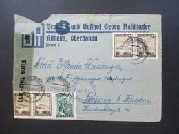 Österreich 1946 Landschaften MiF Zensur Civil Mails Censorship Brauerei Und Gasthof Georg Raschhofer Altheim, Oberdonau - 1945-60 Briefe U. Dokumente