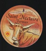 """Etiquette Fromage  Saint Nectaire Fermier Fromagerie Du Grand Murols Cournont D'Auvergne  Puy De Dome 63"""" Vache"""" - Cheese"""