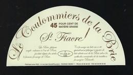 Etiquette Fromage  Coulommiers De La Brie St Fiacre 77 - Cheese