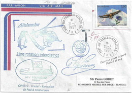 YT 3054 - Parc Des Ecrins - Aigle Royal - Posté à Bord Du Polarbird - Port Aux Français - Kerguelen - 21/07/1999 - France