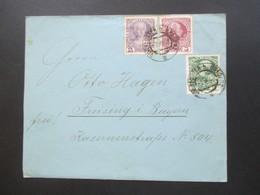 Österreich 1908 Regierungsjubiläum Nr. 120-142 MiF / Dreifarbenfrankatur Bregenz - Freising In Bayern - Briefe U. Dokumente