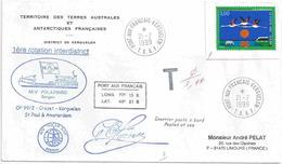 YT 3240 Camargue - Flamant Rose - Posté à Bord Du Polarbird - Port Aux Français - Kerguelen - 21/07/1999 - France