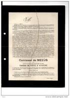 Comtesse De Meeûs Née Anna Du Bois D'Aische °Edegem1865+29/9/1920 Neerrepen Argenteuil Ohain De Dorlodot Tongeren - Mariage
