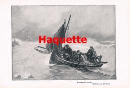 897 Haquette Fischfang Segelboot Schiff Druck 1902 !! - Prints