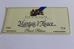 Etiquette De Vin Neuve Jamais Servie  VIN D ALSACE  PINOT BLANC  MARQUIS D ALSACE - White Wines