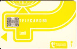 MALTA - Telecom Logo Lm3(yellow), CN : C49146470, Chip SC7, 12/93, Used - Malte