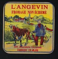"""Etiquette Fromage  L'angevin 50%mg Fabriqué En Anjou  """" Fermier Vache"""" - Cheese"""