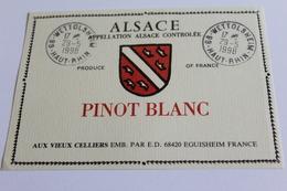 Etiquette De Vin Neuve Jamais Servie  VIN D ALSACE  PINOT BLANC  AUX VIEUX CELLIERS - White Wines