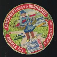Etiquette Fromage Camembert Normandie Le Bon Normand Dinkla Fils Pont Audemer Eure 27 - Cheese