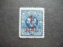 Lietuva Lithuania Litauen Lituanie Litouwen # 1922 MH # Mi.144 - Lithuania