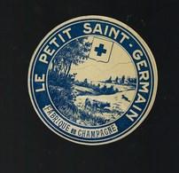"""Etiquette Fromage  Le Petit St Germain Fabriqué En Champagne """" Vaches"""" - Cheese"""