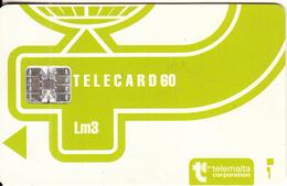 MALTA - Telecom Logo Lm3(light Green), CN : C51148383, Chip SC7, 12/93, Used - Malta