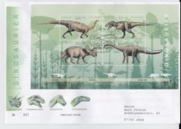 Germany 2008 FDC  Dinosaurier Souvenir Sheet (LAR7-39A) - Stamps
