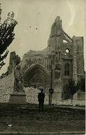 """Carte Photo SAINT OMER Ruines De Saint Bertin Avec Gardien Et Panneau """"Danger"""" A. TRENET Photographe - Saint Omer"""