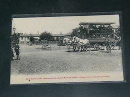 SAINT MAURICE    1910 /  VUE   AMBULANCE DILIGENCE / ASILE DES CONVALESCENTS    ...   / CIRC /  EDITION - Saint Maurice