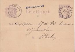 Briefkaart 1979, Van Willemstad Naar Tholen Via Tussenkantoor Middelharnis. Lees - Storia Postale