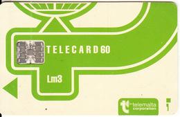 MALTA - Telecom Logo Lm3(normal Green), CN : C3B043026, Chip SC7, 12/93, Used - Malte