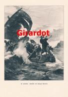 902 Georges Girardot St.Calumba Segelschiff Seenot  Druck 1898 !! - Prints