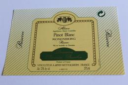 Etiquette De Vin Neuve Jamais Servie  VIN D ALSACE  PINOT BLANC ROSENBERG - White Wines
