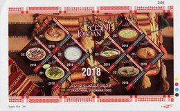 Jordan - 2018 - Traditional Jordanian Food - Mint Souvenir Sheet - Jordan