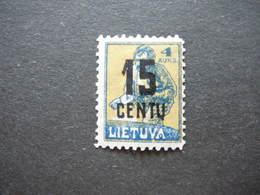 Lietuva Lithuania Litauen Lituanie Litouwen # 1922 MH # Mi.169 - Litauen