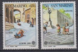 Europa Cept 1989 San Marino 2v From M/s  ** Mnh (43262) - 1989