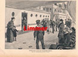 905 Emil Limmer Schiffelbord-Spiel Transat.Dampfer  Druck 1895 !! - Prints