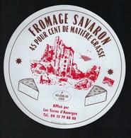 """Etiquette Fromage  Savarin 45%mg Les Terres D'Auvergne  Puy De Dome 63 """" Chateau En Ruine, Vaches"""" - Cheese"""