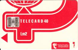 MALTA - Telecom Logo Lm2, CN : C3B042949, Chip SC7, 12/93, Used - Malta