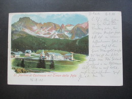 Österreich / Italien 1902 AK St. Martino Di Castrozza Mit Cimon Della Pala Nach Konstanz Gesendet Bodensee - 1850-1918 Imperium