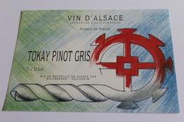 Etiquette De Vin Neuve Jamais Servie  VIN D ALSACE  TOKAY PINOT GRIS WOLFBERGER - White Wines