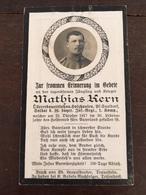 Sterbebild Wk1 Bidprentje Avis Décès Deathcard IR16Flandern LANGEMARK Oktober 1917 Aus Holzhausen - 1914-18