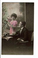 CPA - Carte Postale -Pays Bas- Couple :au Travers D'une Fenêtre-1919 -VM3895 - Koppels