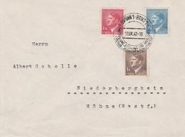 Bohême Et Moravie Lettre Brünn Pour L'Allemagne 1942 - Bohême & Moravie