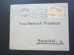 Österreich 1924 Freimarken Dachauer Nr. 387 Waagerechtes Paar MeF Siegfried Eauer Export Agentur Wien - 1918-1945 1. Republik