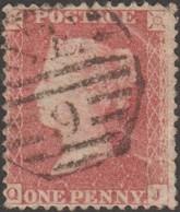 GB 1855 Y&T 14, SG 29 Ou 30 ..., Michel 10A. Victoria 1 P. Rouge-brun, Dentelé 14, Filigrane Grande Couronne. QJ - Oblitérés