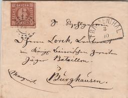 Allemagne Bavière Lettre Frankenthal 1861 - Allemagne