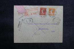 FRANCE - Enveloppe En Recommandé AR De Baume Les Dames Pour Passonfontaine En 1919 Et Retour - L 33159 - Marcophilie (Lettres)