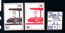 BELGIUM COB TR455P6 457P6 MNH - Chemins De Fer