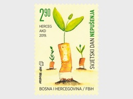 Bosnië / Bosnia - Postfris / MNH - Wereld Anti-Tabak Dag 2019 - Bosnie-Herzegovine